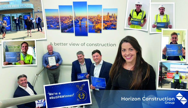 Horizon Construction receives RoSPA Health and Safety Award for second consecutive year